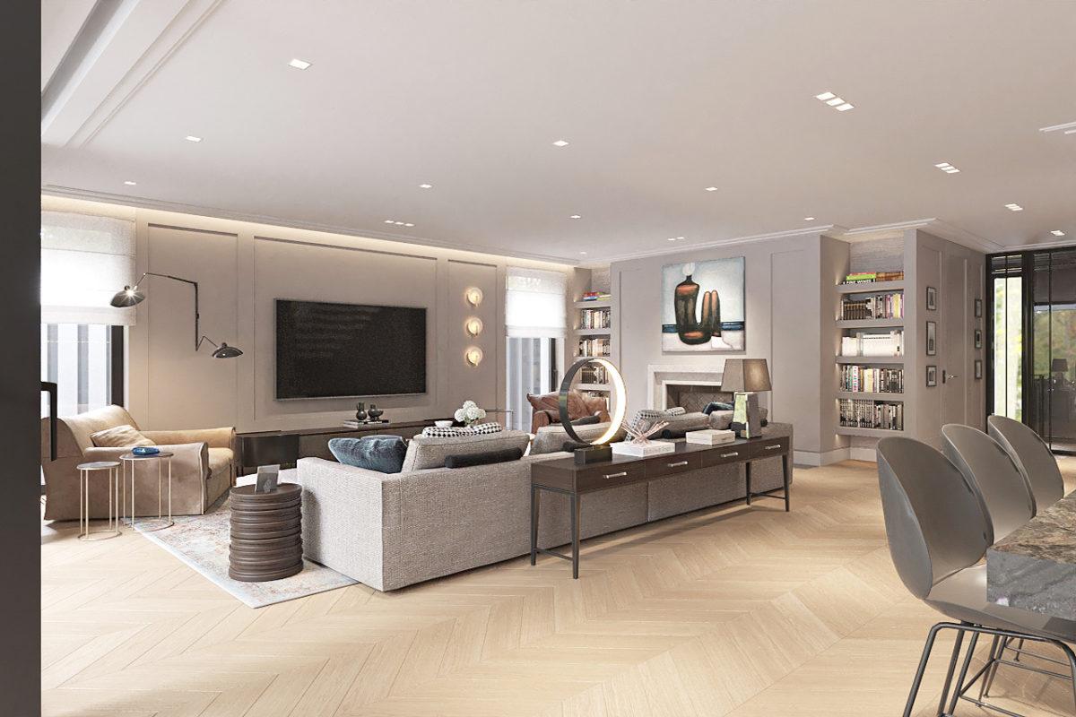 Projektowanie luksusowego salonu warszawa